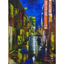 promenade nocturne 33x24 huile-A